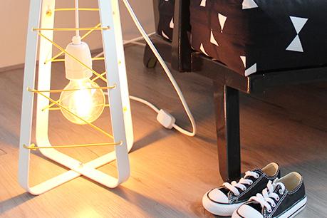 Design met de paplepel ingieten: Lichtlab lamp op de babykamer