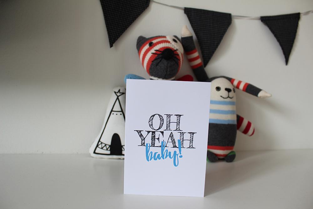 gratis printable baby geboorte kaart jongen