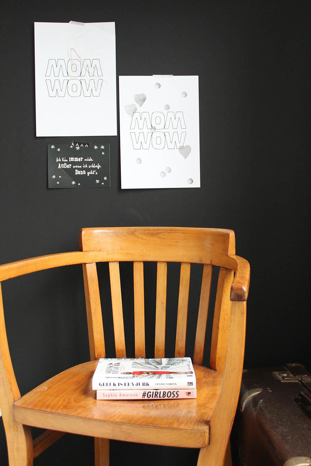 moederdag printable poster monochrome kids MINIMIXTAPE