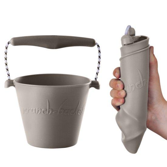 Scrunch Bucket opvouwbare emmer kids grijs