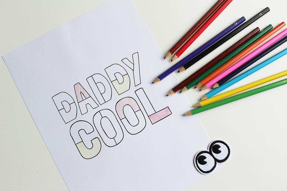 Printable vaderdagcadeau Vaderdag kleurplaat minimixtape
