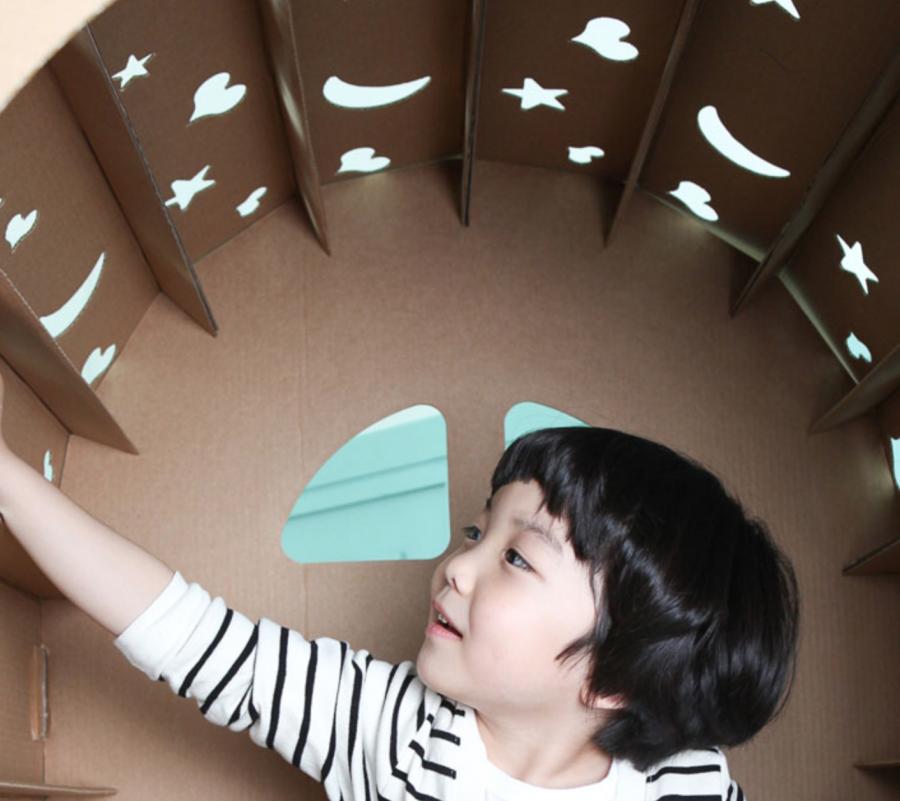 Uren speelplezier in een kartonnen speelhuisje en Miley House is de liefste