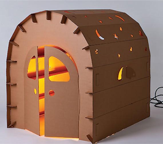 miley house kartonnen speelhuisje funny paper