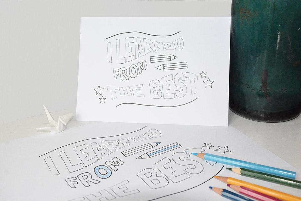 Printable bedankjes voor lieve juffen en meesters – easy DIY