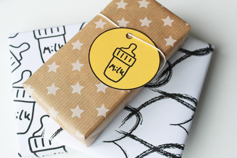 printable cadeau labels milk print minimixtape