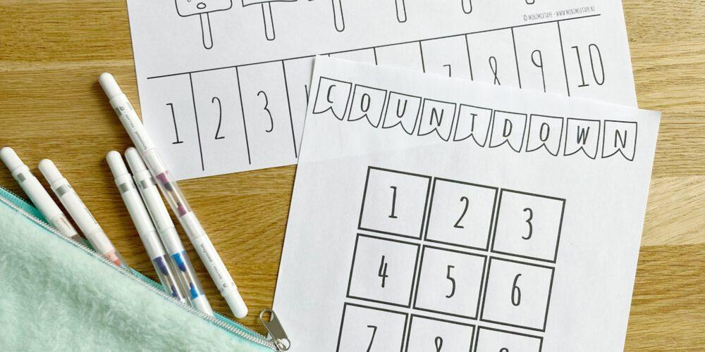 gratis printable vakantie-aftelkalender