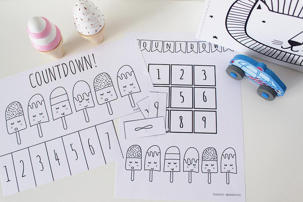 printable aftelkalenders vakantie