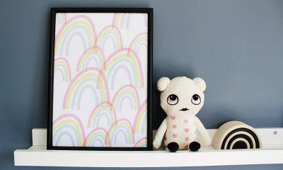 printbare poster kinderkamer regenboog