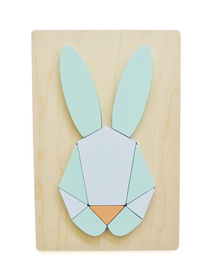 Mintkleurige puzzel minimalistisch Chloe Fleury