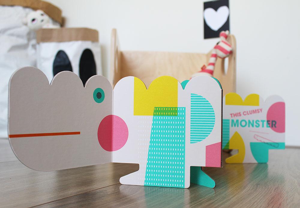 design origineel kinderboek the clumsy monster