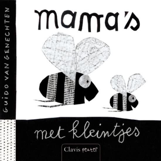 Kinderboek zwart-wit mama's met kleintjes