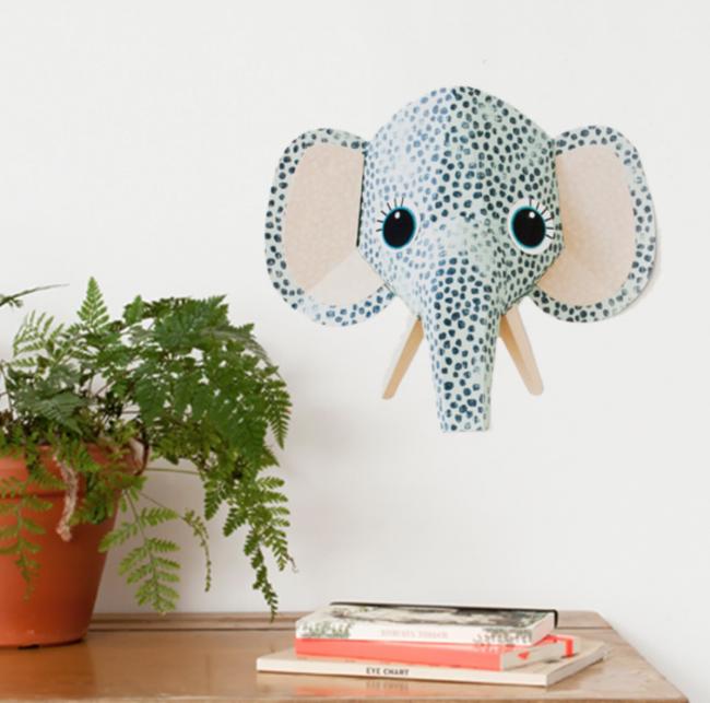 Muurstickers dierenkoppen Studio Ditte olifant