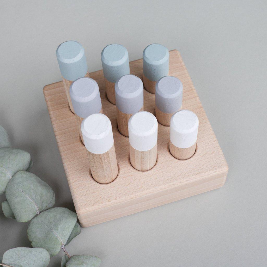 houten speelgoed pastelkleuren sorteerspel