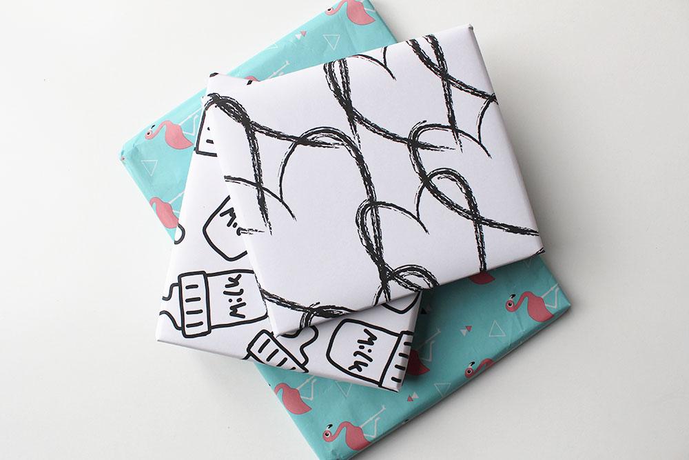 Met liefde ingepakt: download dit printable cadeaupapier met hartjesprint