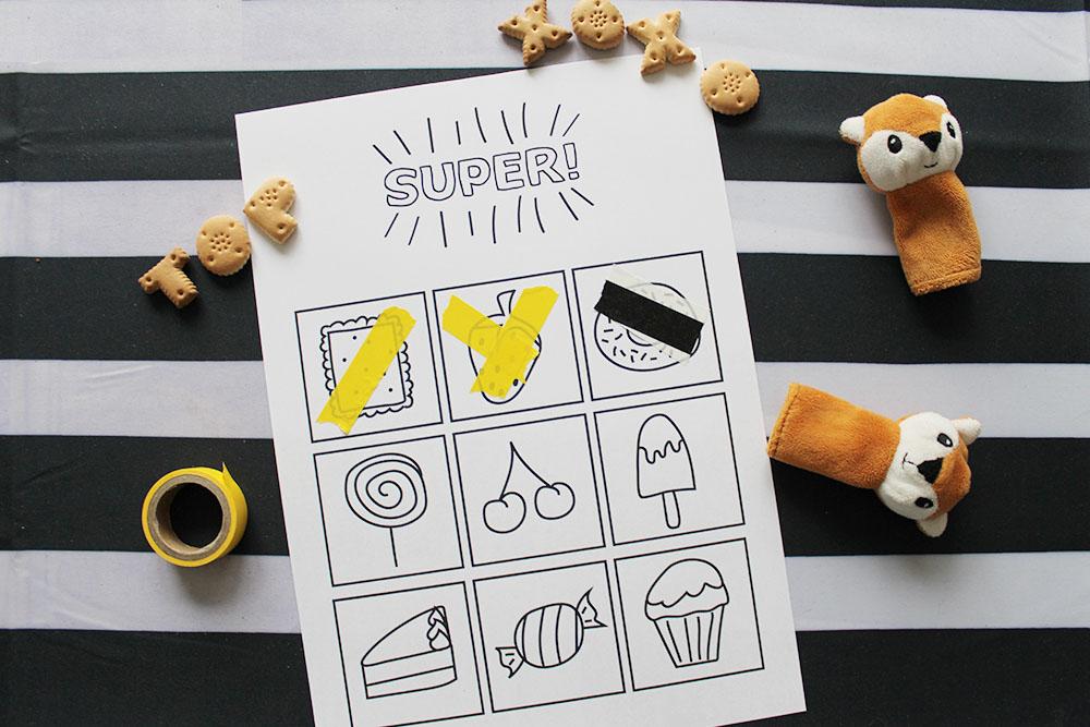Beloningskaart met koekjes-tekening (gratis download)