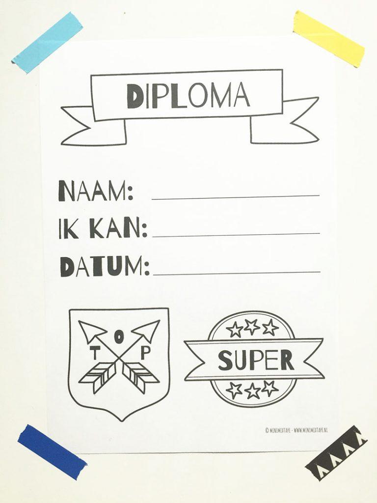 printable diploma kinderen veterstrikdiploma zwemdiploma