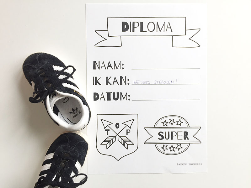printable diploma kinderen veterstrikdiploma