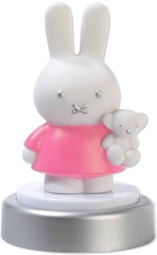 nijntje nachtlampje led roze jurk