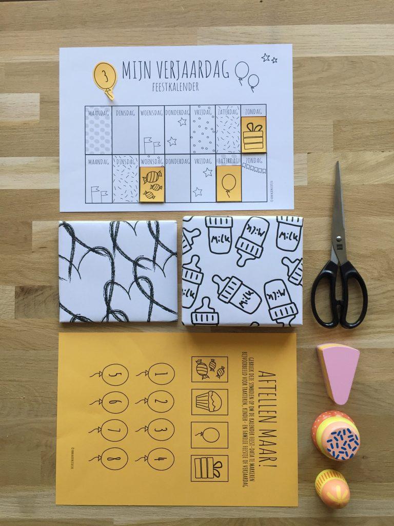 Printable verjaardagskalender gratis download aftelkalender