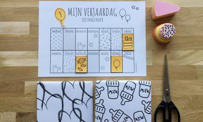 feestkalender trakteren kinderfeestje aftelkalender