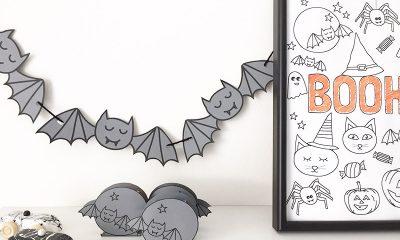 Halloween vleermuizen traktatie rozijntjes printable