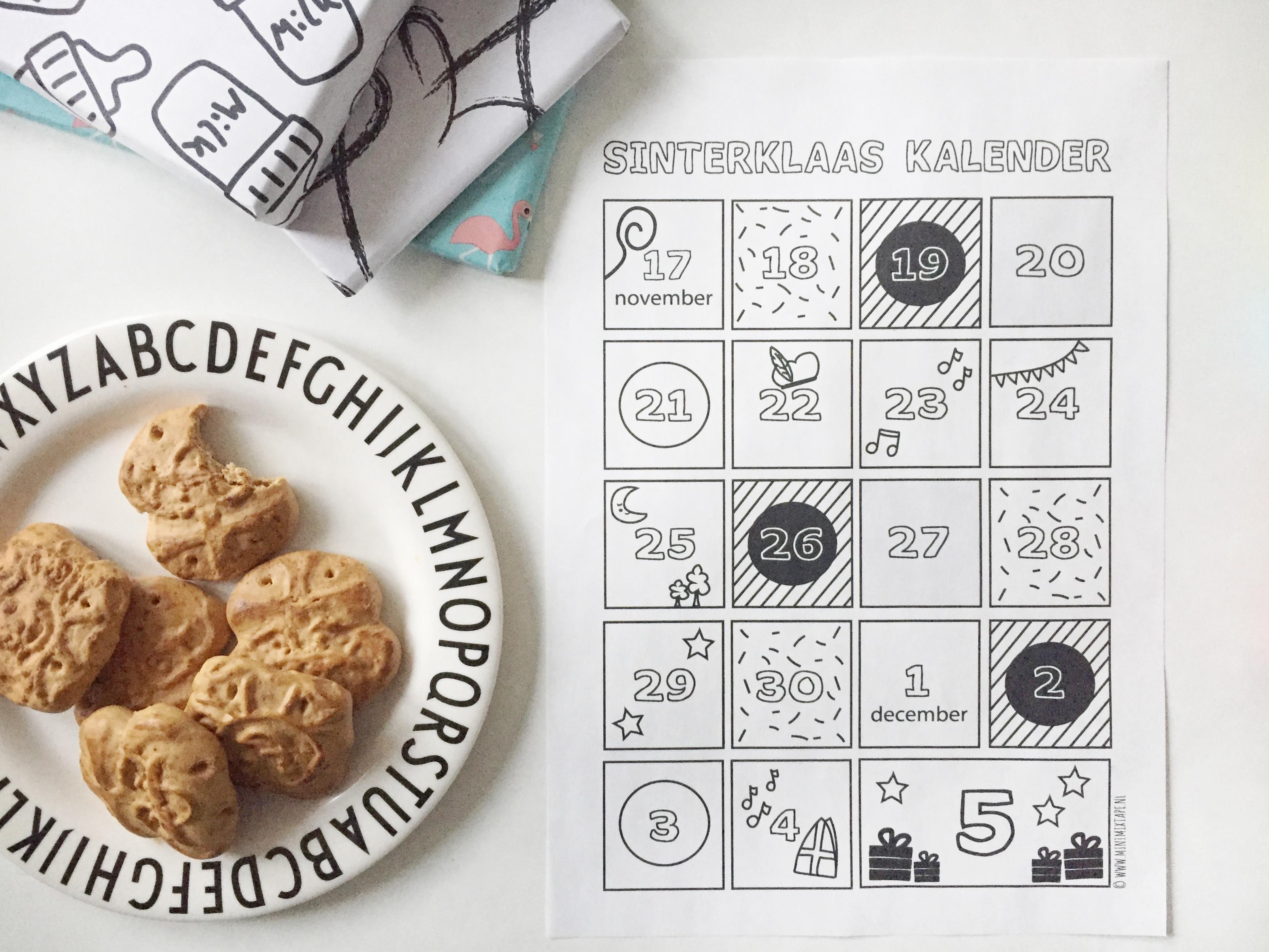 Aftelkalender Sinterklaas 2018 gratis