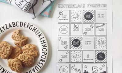 printable aftelkalender Sinterklaas 2018