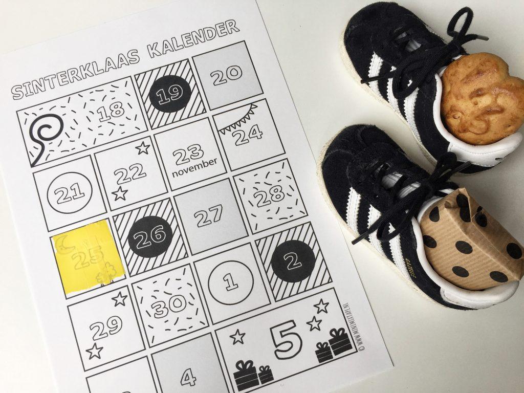 Welke dag schoen zetten printable schoenzetkalender gratis sinterklaas download