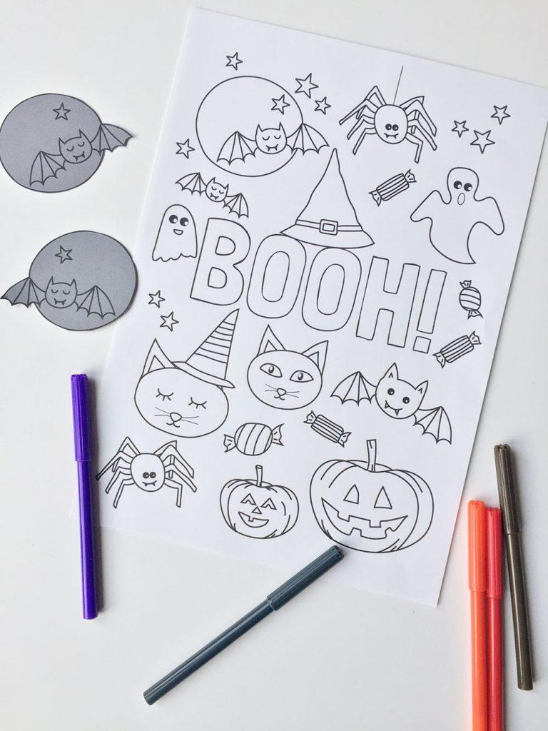 Gratis Kleurplaten Halloween.Halloween Printable Kleurplaat Gratis Download Minimixtape