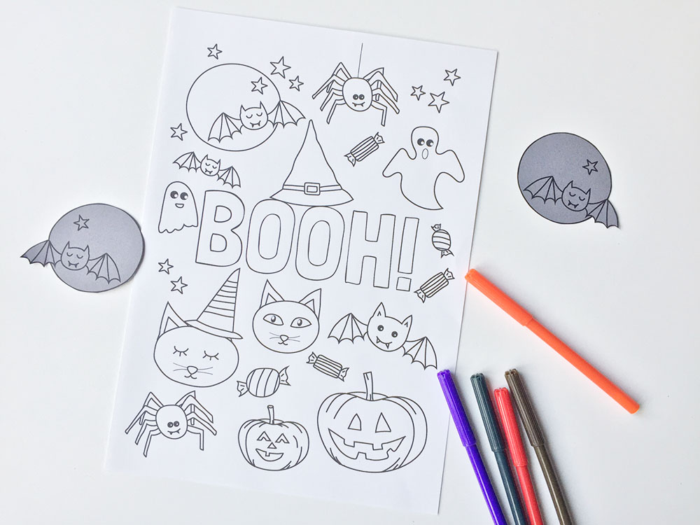 Halloween printable: kleurplaat (gratis download)