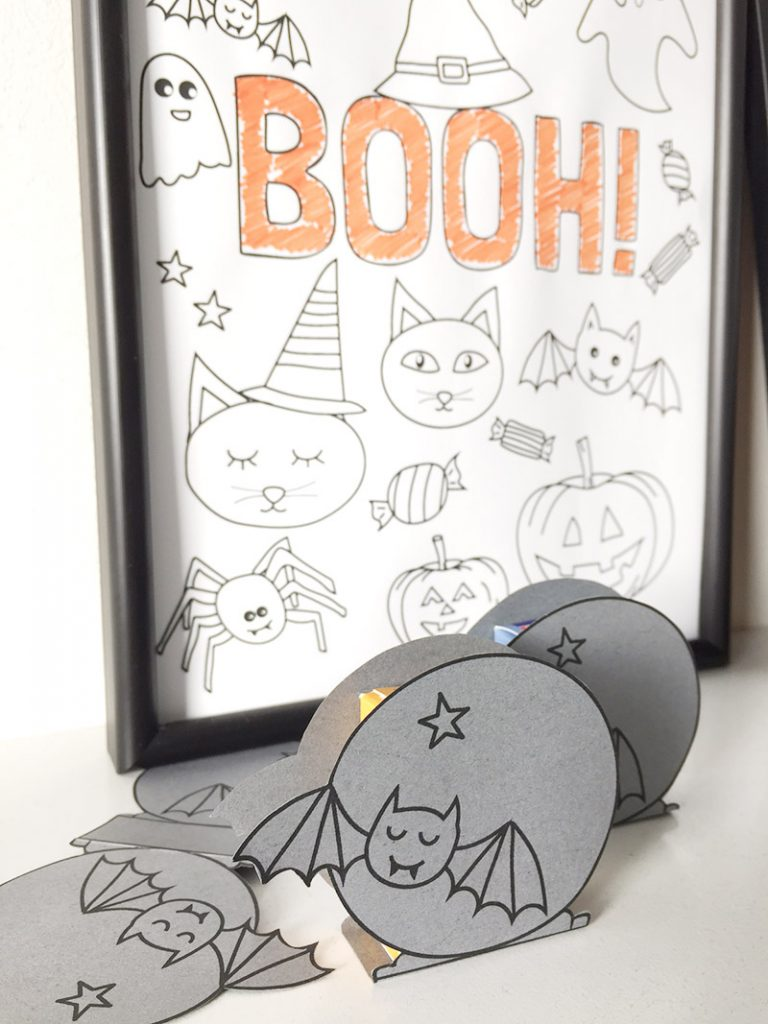 halloween printable kleurplaat traktatie DIY free download