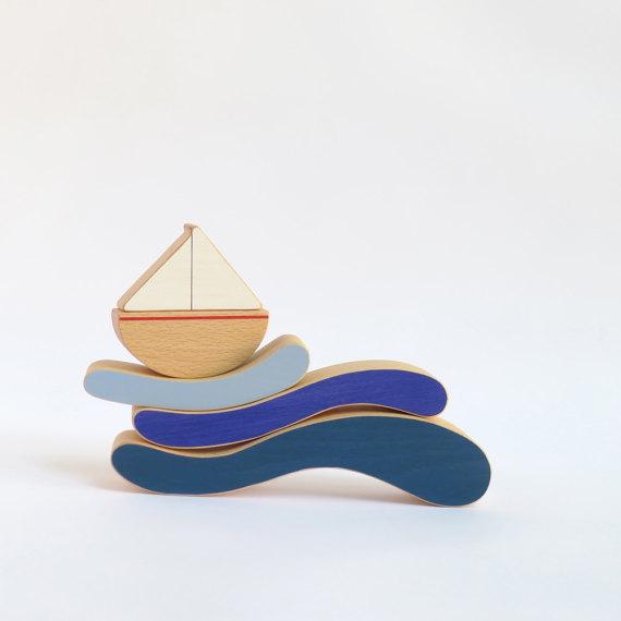 houten speelgoed stacking toy balanceerspel