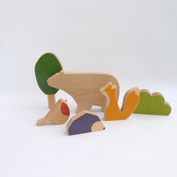 houten speelgoed bosdieren minimal