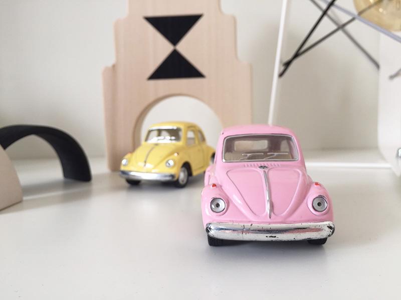 Favoriet van Lis: VW Classic Beetle speelgoedauto's in pastel