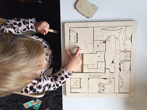 houten dierenpuzzel origineel design puzzel