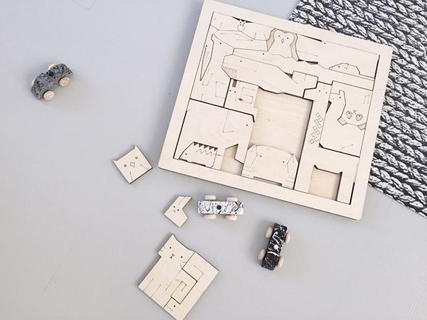 Multifunctionele houten dierenpuzzel van CRE8 + winactie