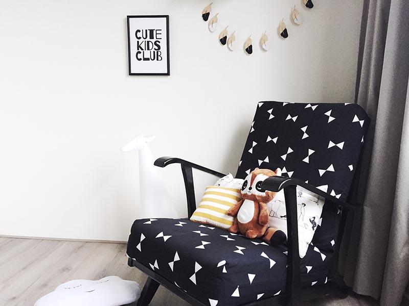 monochrome poster kinderkamer cute kids club gratis printable