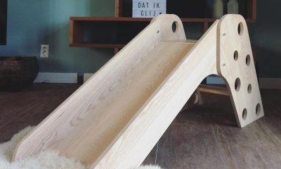 design houten speelgoed glijbaan