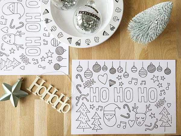 kleurplaat free printable kerst