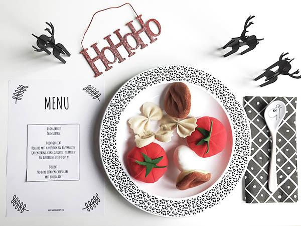 printable menukaart kerst kerstdiner