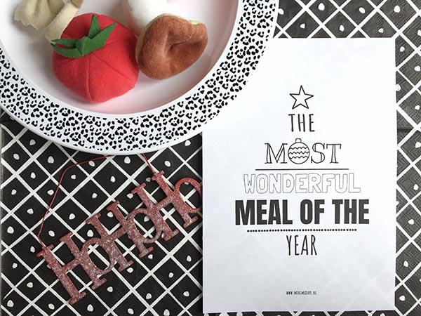 4x printable menukaarten voor kerst + recepten voor het kerstdiner