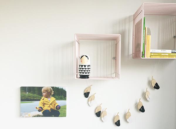 Mini makeover: foto aan de muur van de kinderkamer