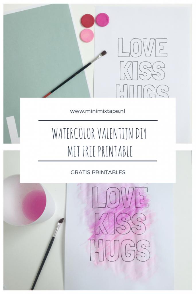 valentijn diy met gratis printable