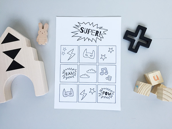 Superhero printable beloningskaart (gratis download)