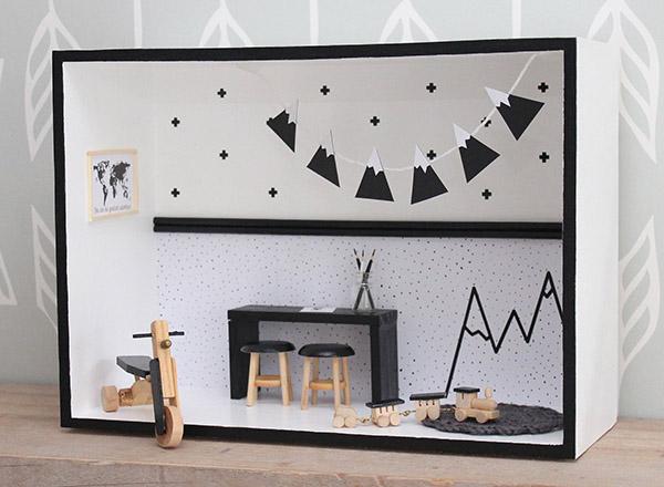 Zó leuk bedacht: ingerichte muurkastjes als alternatief voor het poppenhuis