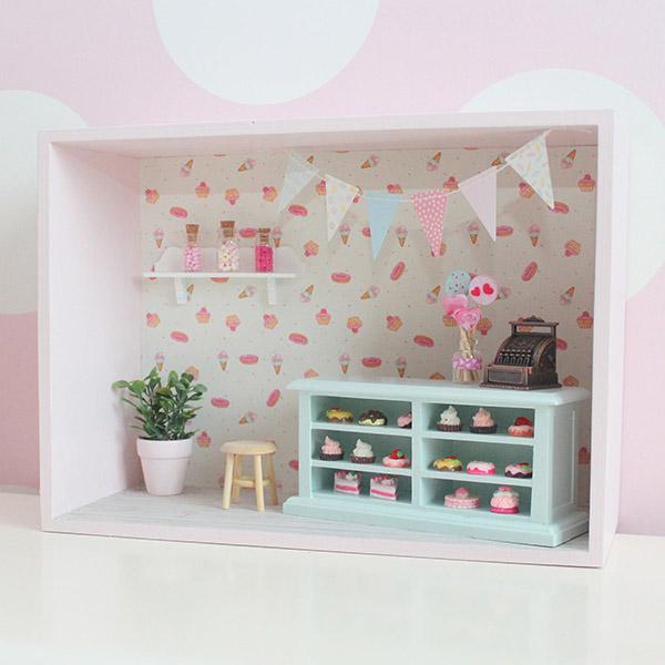 poppenhuis muurkastje snoepwinkel