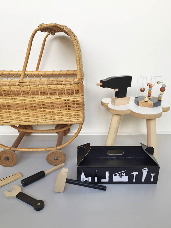 design letters and friends speelgoed kinderen toolbox