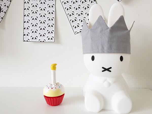 Printable vlaggetjes voor een panda-thema verjaardag