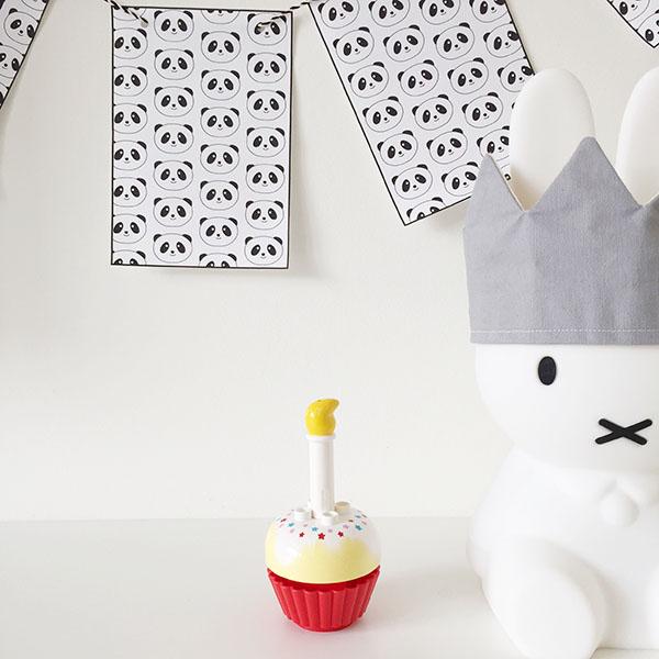 panda-thema verjaardag versiering vlaggenlijn gratis printable
