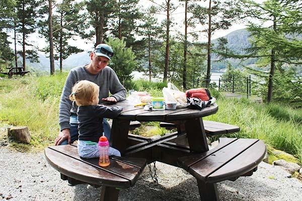reisdilemma's reizen met kind noorwegen picknick camperreis